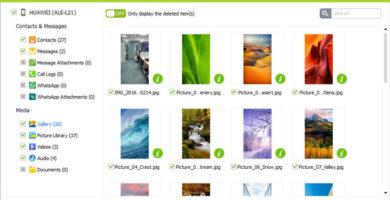 recuperar imagenes y videos de snapchat