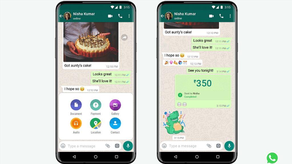 whatsapp pagos india inversion